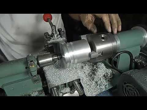 Machining A Replacement Pulley With 3 Keyway. Homemade Lathe