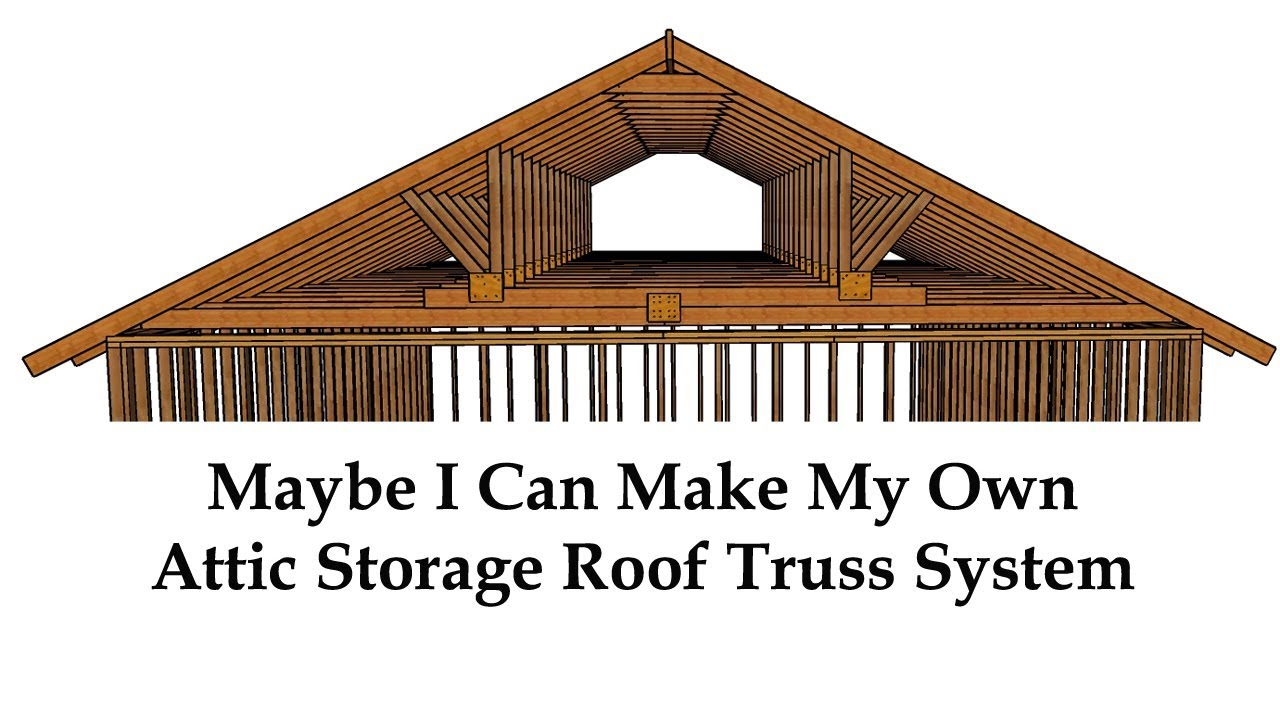 Attractive Large Building And Garage Roof Framing Ideas For Additional Attic Storage