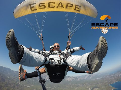 Paragliding With Extreme From Tahtali Mountain, Kemer, Turkey. Escape Adventures.