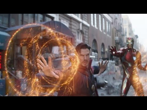 《复仇者联盟3:无限之战》Ironman,Doctor Strange,Spiderman Vs Ebony Maw 纽约战 HD
