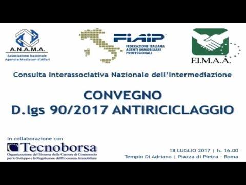 18/07/2017 - D.lgs 90/2017 Antiriciclaggio - Tempio di Adriano CCIAA Roma - Tecnoborsa