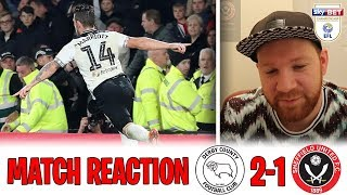 REACTION AFTER BLADES DEFEAT: DERBY COUNTY 2-1 SHEFFIELD UNITED | Ingood Nick