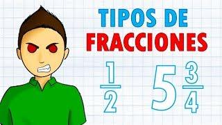 TIPOS DE FRACCIONES Super fácil  |  Para principiantes