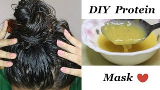 DIY Protein Mask for Reducing Hair Loss, Dandruff   Get Healthy & Silky Hair Naturally