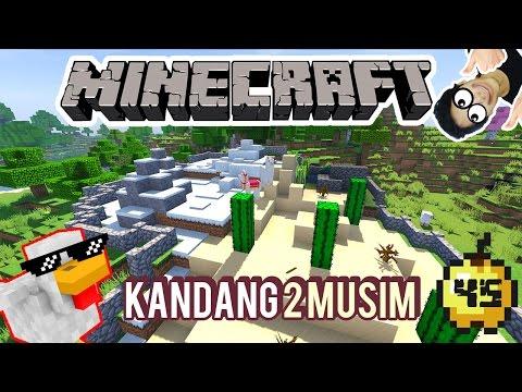 KANDANG LLAMA 2 MUSIM - MINECRAFT SURVIVAL INDONESIA #45