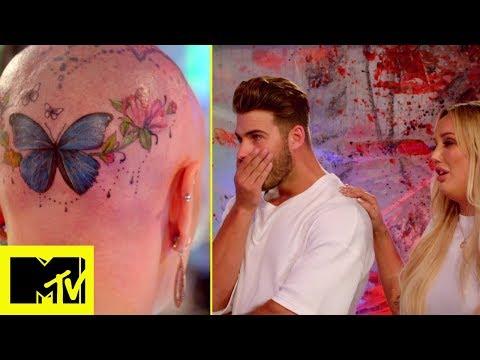 Il tatuaggio di una farfalla in testa | Just Tattoo Of Us 4 puntata 1 italiano