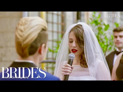 This Bride's Poetic Vows Will Give You Chills | Real Weddings | BRIDES