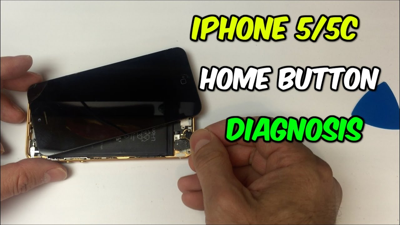 How To Troubleshoot Iphone 5 And 5c Home Button Youtube