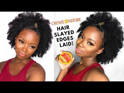 My Edges Are Slayed And Laid - Easy Natural Hairstyle