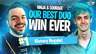 NINJA & COURAGE - OUR BEST DUO VS SQUADS WIN EVER!!! (Fortnite: Battle Royale)
