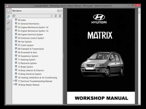 hyundai matrix workshop service repair manual wiring youtube rh youtube com hyundai matrix repair manual online hyundai matrix repair manual online