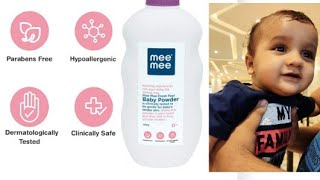 MEE MEE BABY POWDER REVIEW//makeupand vlogging