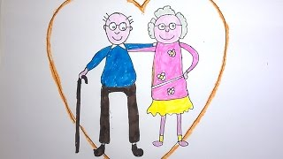 How to Draw a Happy Grandparents Day GREETING