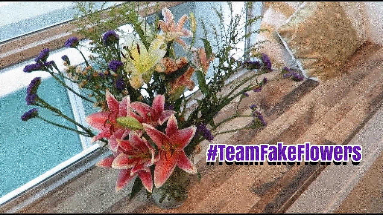 Fake Flowers Vs Real Flowers Vlog Fifiliciousify Youtube