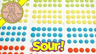 Mega Sour Candy Buttons With Mouth Puckering Flavors