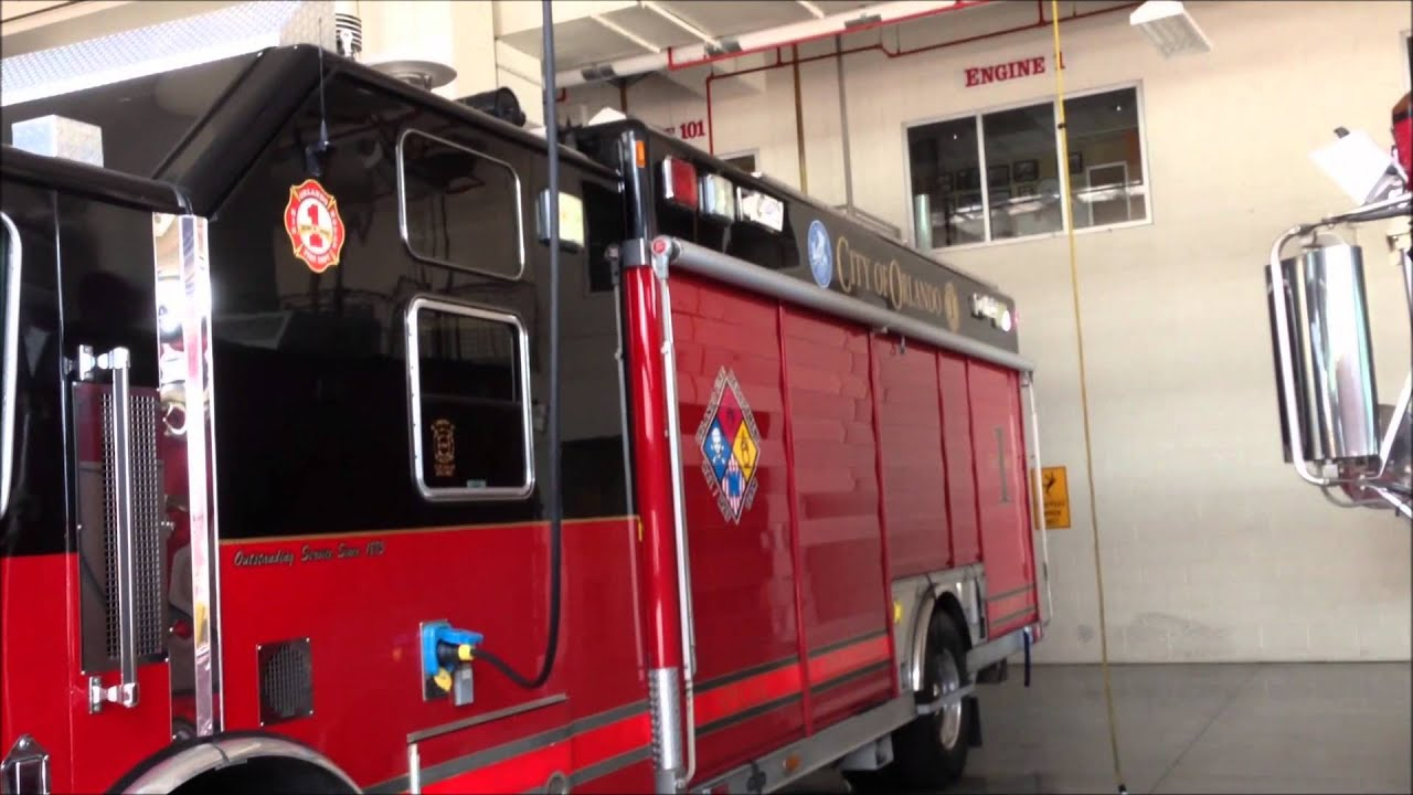 In House Visit To City Of Orlando Fire Department Station