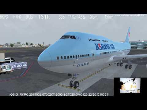 Prepar3d V4  PMDG 747 v3 Jeju to Busan...
