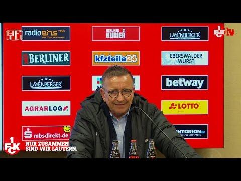 Pressekonferenz nach dem Spiel beim 1. FC Union Berlin