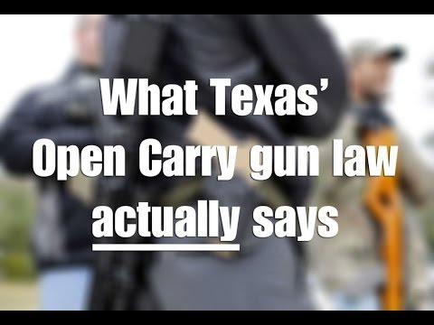 Understanding Texas' New Open Carry Law - Terry Holcomb, Tex