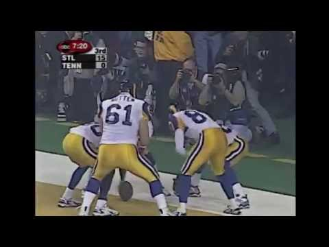 Torry Holt Scores (Rams vs Titans 1999 Super Bowl XXXIV)