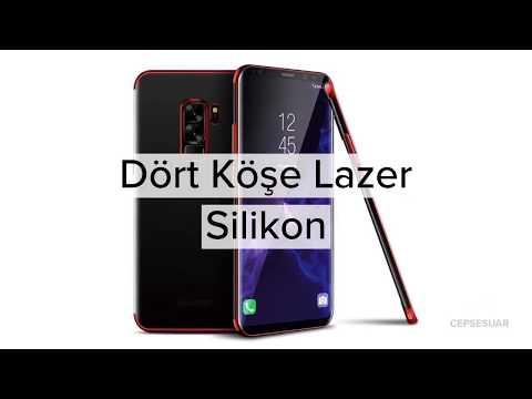Cepsesuar - Dört Köşe Lazer Silikon Kılıf
