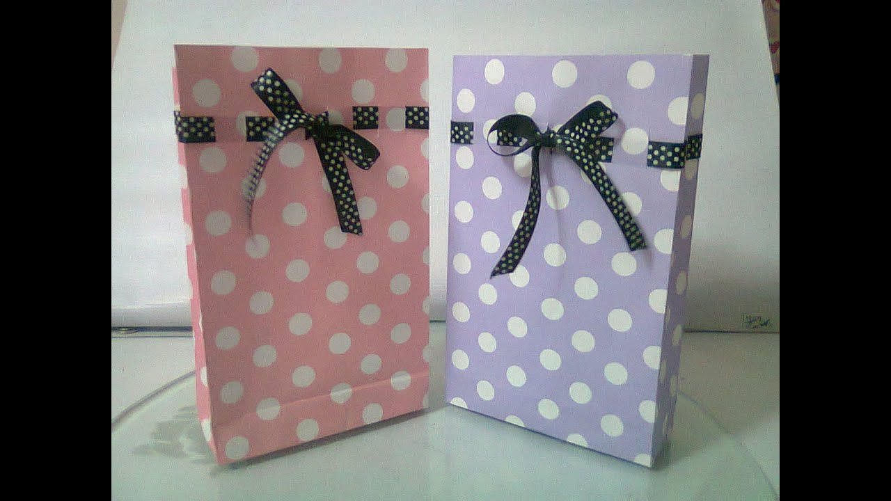 DIY : #5 Cute Paper Bags For Gift ♥ - YouTube
