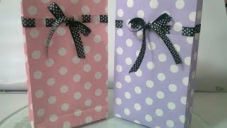 DIY : #5 Cute Paper Bags For Gift ♥