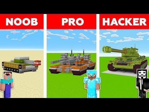 Minecraft NOOB Vs PRO Vs HACKER : SUPER TANK BATTLE In Minecraft / Animation