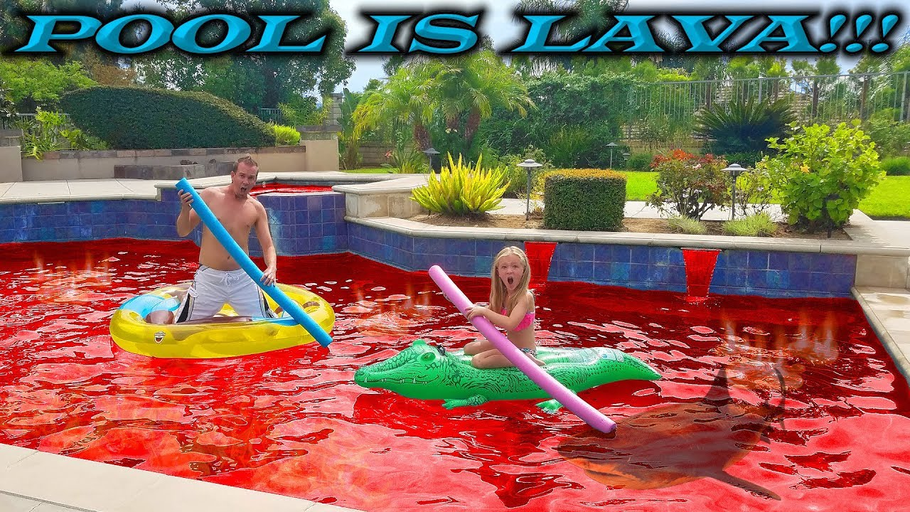 Pool Is Lava Challenge Pool Monster Escape Prank On