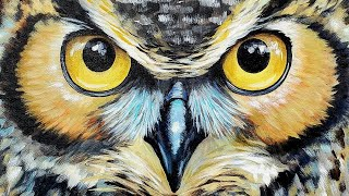 Easy Owl Acrylic Painting LIVE Tutorial