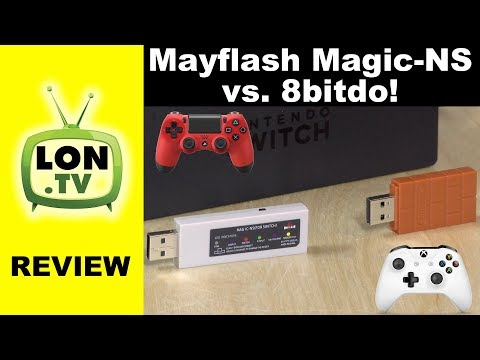Mayflash Magic-NS vs. 8bitdo Wireless Bluetooth Adapter : PS4 / Xbox Controllers on Switch, Pi, PC