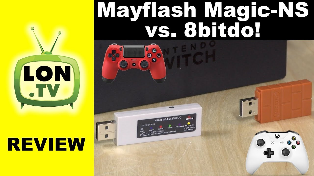 8bitdo Usb Wireless Adapter Review Ps4 Xbox One Controller On Switch Youtube