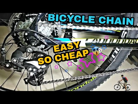 | HOW TO CLEAN | DEGREASE AND LUBRICATE A | MTB |BICYCLE|BIKE |CHAIN EASILY AND FOR CHEAP|KMC CHAIN|