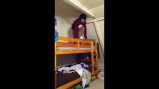 Kid Fails On Bunk Bed