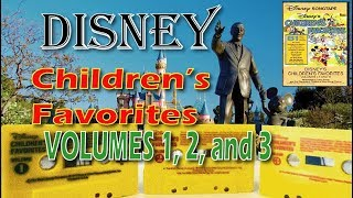 Disney Children's Favorites Tapes 1, 2, and 3