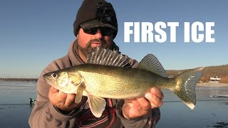 First Ice Walleye Adventure! | I am so bad at fishing!
