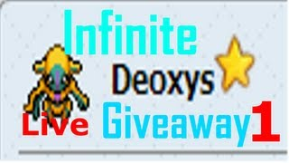 Repeat youtube video PTD 2 Shiny Deoxys Giveaway Live