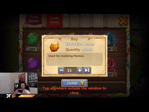 JT's Free 2 Play 3 Heroes Double Evolved + Rolling Traits Castle Clash