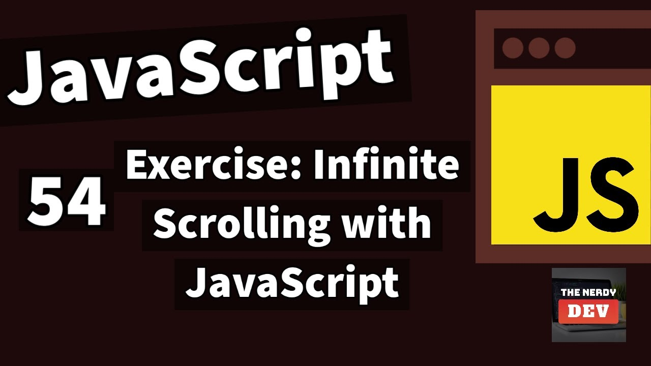 Implement Infinite Scroll in JavaScript (Exercise)