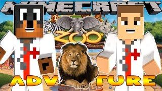 Minecraft - Little Donny Adventures - DOCTOR DONUT TALKS TO THE ANIMALS AT THE ZOO