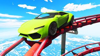 RACING ON A ROLLERCOASTER! (GTA 5 Funny Moments)