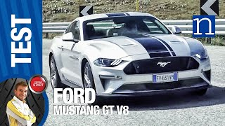 Ford Mustang V8!  Test drive in Italy top power extreme car