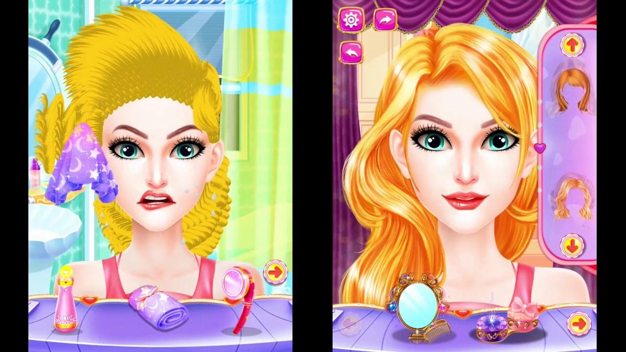 Princess Valentine Hair Style Princess Games Valentine Hair Salon