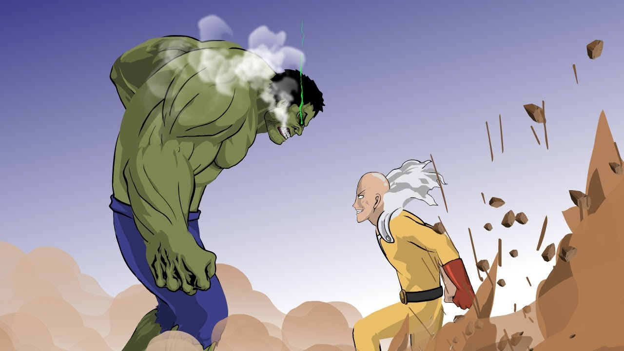 Hulk vs Saitama Animation Part 2 Taming The Beast