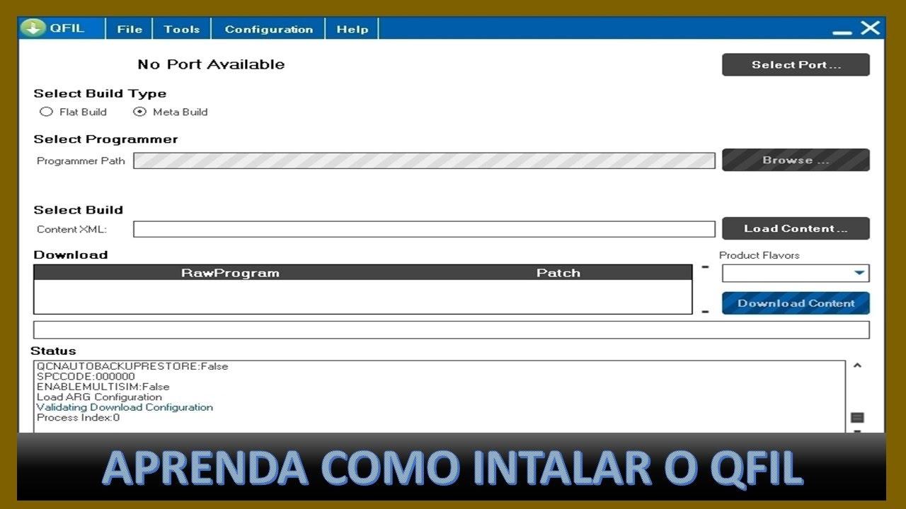 COMO INSTALAR O QFIL USADO PARA INSTALAÇÃO DE ROMS DE FABRICA QPST