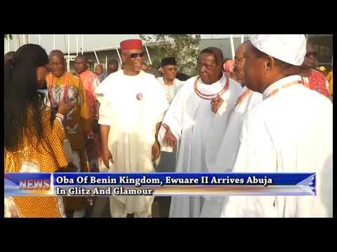 Oba Of Benin Kingdom, Ewuare II Arrives Abuja In Glitz And Glamour