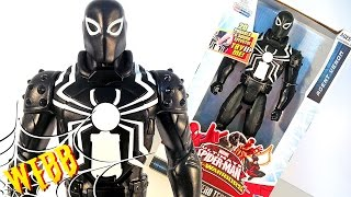 ULTIMATE SPIDER-MAN Web Warriors AGENT VENOM Titan Hero Tech Action Figure Review