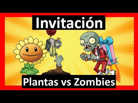 Video Invitación Plantas Vs Zombies Whatsapp Digital