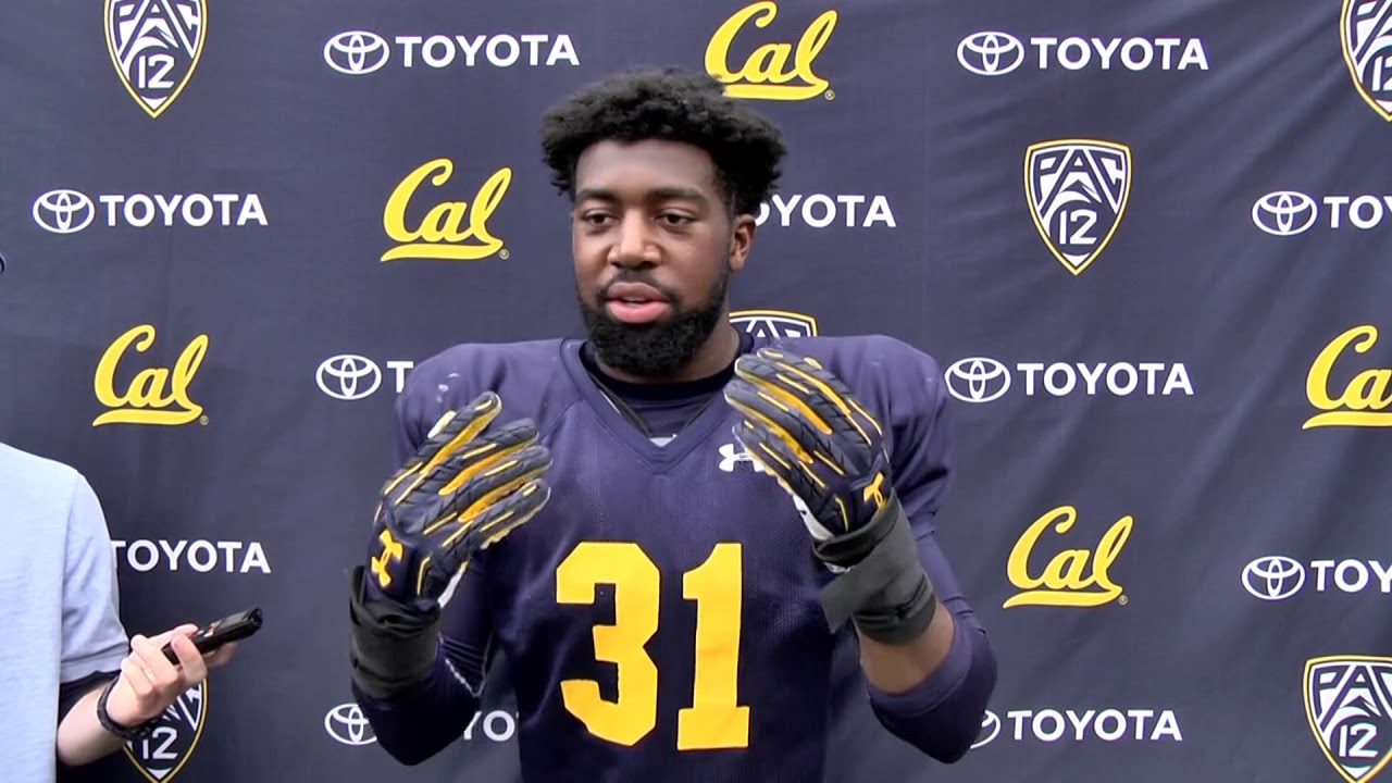 outlet store e8dfb d0cb3 2017 Cal Football Training Camp: Raymond Davison III Post-Practice  Interview 08-19-2017