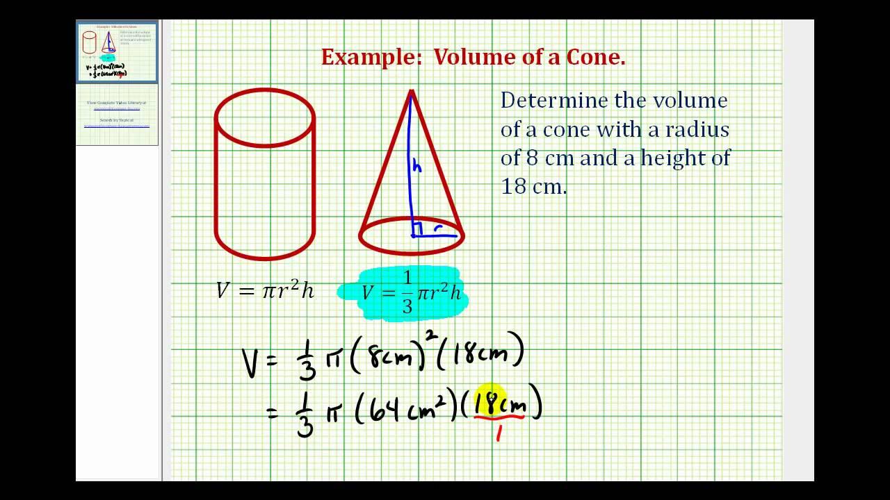 medium resolution of Volume Of Cones (formula